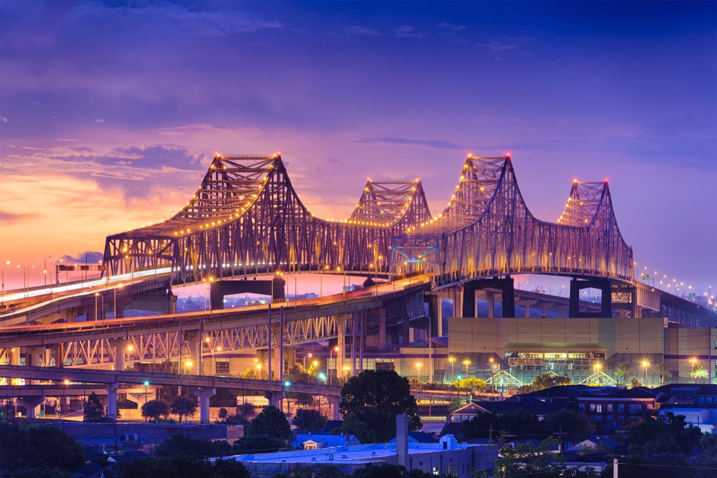 Crescent City Connection Bridge.